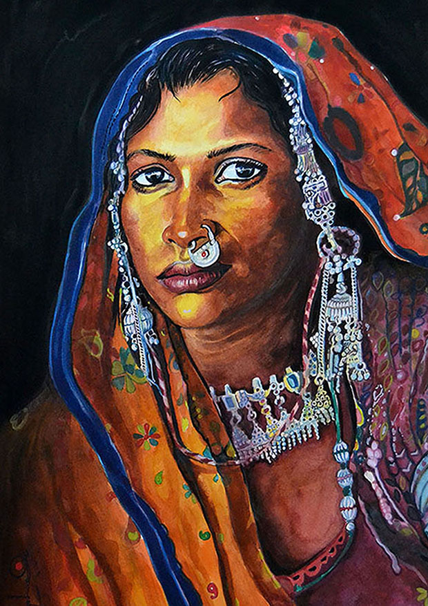 1. Rajasthani woman