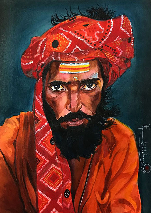 3. Sadhu with Turban